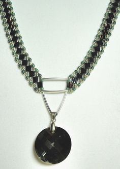 Gunmetal Tila Sensation Necklace and Earring by AREXRODECREATIONS, $40.00