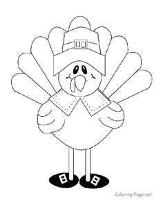 Turkey coloring page  Fonts and Free Printables  Pinterest