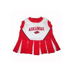 Arkansas Razorbacks Cheer Leading MD *** Don't get left behind, see this great dog product : Dog Dresses