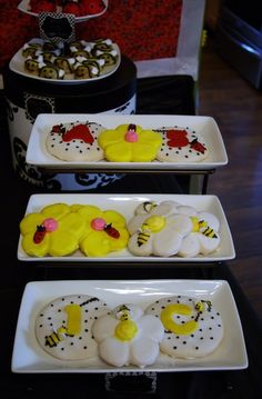 Cookies at a Bee and Ladybug Party #ladybug #bumblebee #party