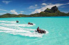 Jet ski in Bora Bora! Think I'm adding this one to my bucket list :) Bucket List For Girls, Best Friend Bucket List, Bucket List Before I Die, Bucket List Life, Adventure Bucket List, Life List, Couple Goals Bucket Lists, Bucket List Tumblr, Adventure Time