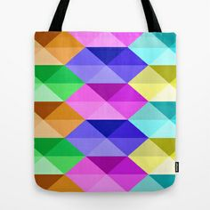 Six Triangles Tote Bag by Maggie Martin Art - $22.00