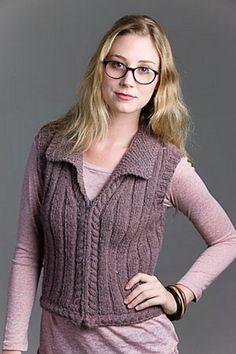 brit lit vest, knitscene fall 2010