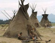 """""""The Plains Apache and many of the Lipan Apache tribes adopted the buffalo hide tipi style house. Tipis were easier to keep warm than wickiups and usually had more room inside than a wickiup. Native American Teepee, Native American Photos, American Indian Art, Native American Tribes, Native American History, American Indians, Apache Indian, Native Indian, Blackfoot Indian"""