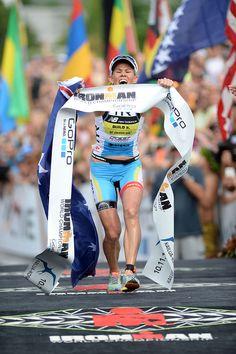 Mirinda Carfrae with that winning feeling at Ironman World Championship 2014