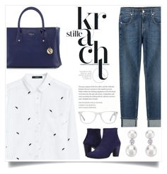 """WHite & Blue Please!"" by sweet-jolly-looks ❤ liked on Polyvore featuring MANGO, 7 For All Mankind, Arche, Furla, Muse, women's clothing, women's fashion, women, female and woman"