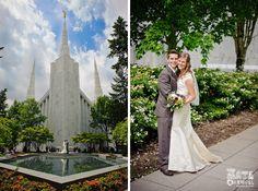 Portland Temple Wedding