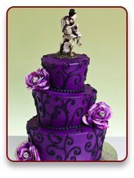 Gothic Dreams Cake http://www.jacquespastries.com/weddingcakes/theme/theme.html#