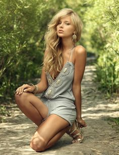 Love the embellishments on this romper. Fabulous little outfit. Hottest romper!