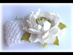 Мастер класс, цветы из фоамирана. Повязка на голову для девочки своими р...