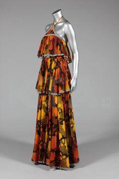 Dress 1970's, British, Made of nylon jersey