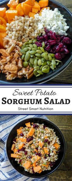Try this Sweet Potato Sorghum Salad as a prep-ahead option to make holiday feasts easier!