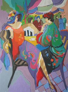 """Limited Edition Print """"Corner Cafe"""" by Isaac Maimon"""
