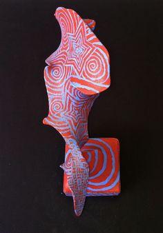 Kids Art Market: Op Art Wire sculptures with nylons