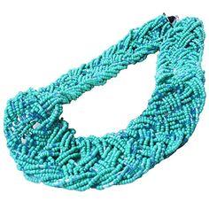 Grand Womens Seed Beads Wide Necklace Bib Statement Choke... http://www.amazon.com/dp/B01EYTJH88/ref=cm_sw_r_pi_dp_L5Wjxb0P3NAX8