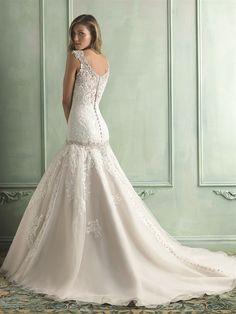 Allure Bridals is one of the premier designers of wedding dresses, bridesmaid dresses, bridal and formal gowns. Drop Waist Wedding Dress, Wedding Dress Sizes, Perfect Wedding Dress, Bridal Dresses, Wedding Gowns, Bridesmaid Dresses, Lace Wedding, Dream Wedding, Gatsby Wedding