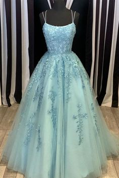 Tulle Lace, Pink Tulle, Beaded Lace, Pretty Prom Dresses, Prom Party Dresses, Celebrity Prom Dresses, Evening Gowns, Blue Evening Dresses, Evening Party