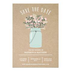 Bohemian Mason Jar | Save the Date Announcement