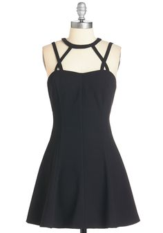 Contagious Confidence Dress. Its clear that youre looking and feeling good when you hit the town in this little black dress! #black #modcloth