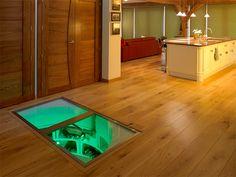 cool kitchen interior: wine cellar trap door | cellars | pinterest