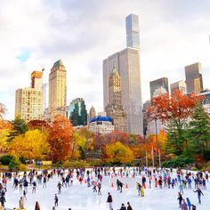 The Wollman Rink in Central Park by @gigi_nyc