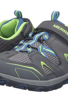 Merrell Kids Trail Chaser (Little Kid) (Grey/Blue/Citron Suede/Mesh) Boys Shoes - Merrell Kids, Trail Chaser (Little Kid), MC55631-020, Footwear Athletic General, Athletic, Athletic, Footwear, Shoes, Gift, - Street Fashion And Style Ideas