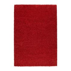 """ALHEDE rug, high pile, red Length: 6 ' 5 """" Width: 4 ' 4 """" Surface density: 12 oz/sq ft Length: 195 cm Width: 133 cm Surface density: 3550 g/m² Bed Rug, Swedish House, Under Bed, White Rug, Football Conference, Conference Room, Rugs In Living Room, Oriental Rug, Home Furniture"""