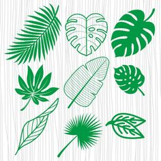 Leaves Template Free Printable, Leaf Template, Easy Diy Crafts, Diy Arts And Crafts, Leaves Sketch, Leaf Cutout, Leaf Outline, Tropical Party Decorations, Leaf Stencil