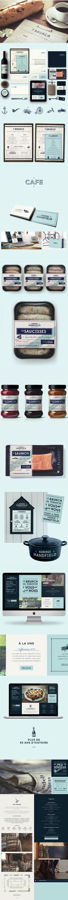 Auberge Handfield branding and packaging | #stationary #corporate #design #corporatedesign #identity #branding #marketing