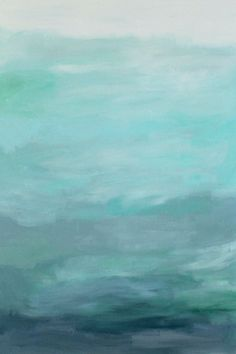 Gorgeous blue waters have the makings of an expensive abstract art piece, but it's not! It's a quick DIY project with just paint and a canvas! Less then $22 for custom, gorgeous art in your home. | Tutorial at TheTurquoiseHome.com