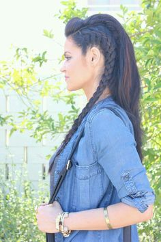 Boxer braid half-do!