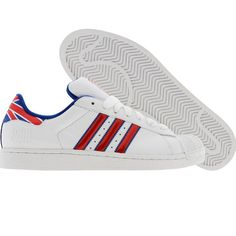Adidas Superstar II 2 (white / college royal / college red) 031661 - $69.99 Adidas Casual Shoes, Adidas Shoes, Adidas Superstar, Dress To Impress, Adidas Originals, Kicks, College, Mens Fashion, My Style