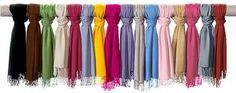 IF one is good...one in every color is better!!! Where to buy inexpensive pashminas and new ways to wear them :)