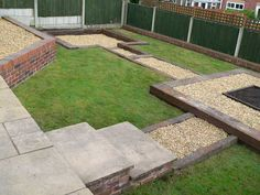 Simon Cunliffes garden design with railway sleepers LGB trains