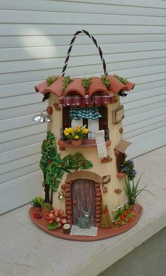 1 million+ Stunning Free Images to Use Anywhere Clay Fairy House, Fairy Garden Houses, Diy And Crafts, Arts And Crafts, Doll House Crafts, Tissue Box Covers, Tissue Boxes, Tile Crafts, Clay Fairies