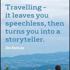 Never thought of it that way, but this is spot-on! Wise Quotes, Quotes To Live By, Funny Quotes, Wise Sayings, Inspirational Quotes, Best Travel Quotes, Quote Travel, Travel Words, Rhyme And Reason