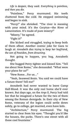 Percabeth and Tartarus. I love it ♥ I ship it ♥