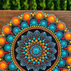 No photo description available. Mandala Art, Mandala Design, Mandala Jewelry, Mandala Canvas, Mandala Rocks, Mandala Painting, Mandala Pattern, Dot Art Painting, Ceramic Painting