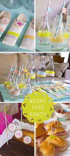 Quelques usage des rubans adhésifs papier (washi tape) - washi tape party decoration ideas