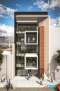 Residential Building Design, Architecture Building Design, Home Building Design, Facade Design, Modern Architecture, Modern Apartment Design, Townhouse Designs, House Front Design, Facade House