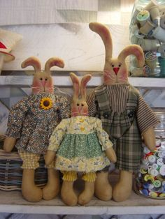 The Honey Bunny Kids, 3 Rabbits in one Pattern 25 $5.00
