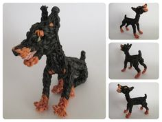 Rainbow Loom dobermann puppy Part 1/2 Loombicious