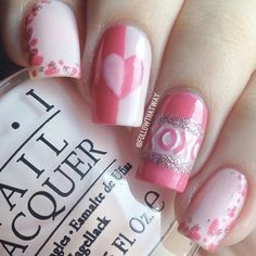 Valintine nail art