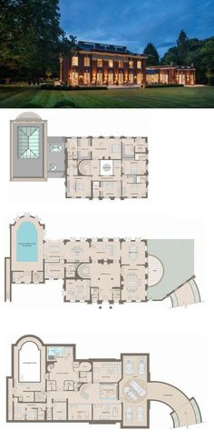 Whitelands – A Stately Brick Mansion In Surrey, England (FLOOR PLANS)