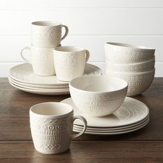 Scribe 16-Piece Place Setting | Crate and Barrel