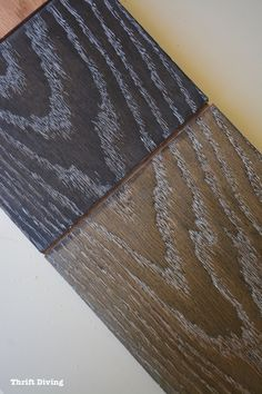 The Striking Effect Of Black Stained Wood Is That The