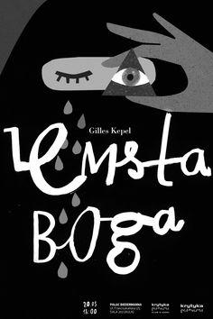 "◑ ◡ ◑ Aleksandra Nniepsuj   Poster sketch for a meeting on ""La revanche de Dieu"" by Gilles Kepel."