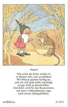Fleißbildchen - Original Ida Bohatta - ars 61.2251 - August