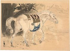 Takeuchi Seihō - 竹内 栖鳳 - December 20th-1864 - August 23th-1942 - was the pseudonym of a Japanese painter of the Nihonga style. Active from the Meiji through the early Shōwa period. One of the founders of Nihonga, his works spanned half a century and he was regarded as master of the prewar Kyoto circle of painters. His real name was Takeuchi Tsunekichi