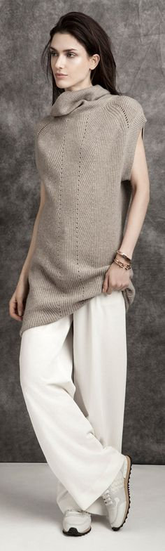 Layering is key this season, pair similar tonal colours to nail that statement look. I would add statement heels to complete this understated feeling.
